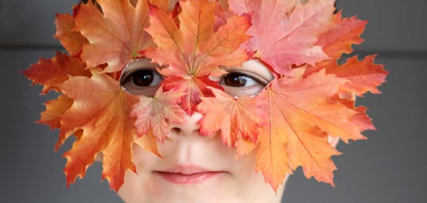 Knutselen met herfst bladeren