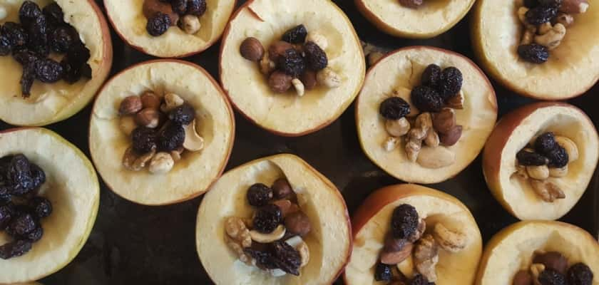 Gezonde snacks appels