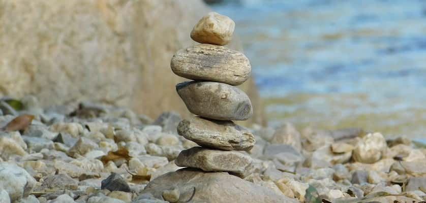 Stenen stapelen is leuk!