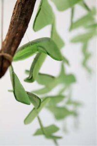 mobiel met bladeren maken