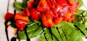 aardbei spinazie salade